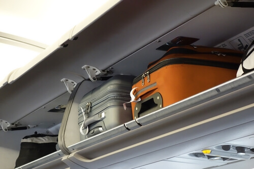 hand luggage airplane compartment