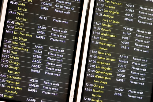 Departure board Heathrow